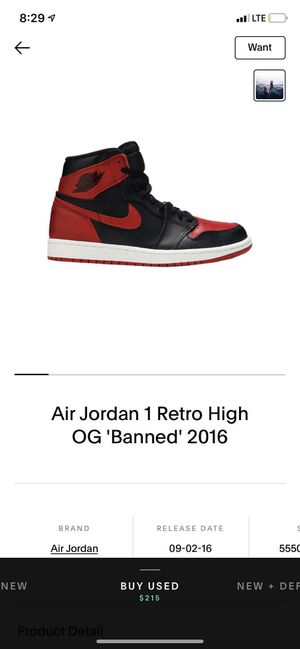 Jordan 1 banned bred shadow satin for Sale in Portland, OR