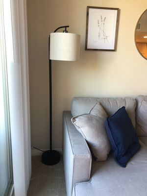 Floor lamp with hanging shade and foot switch for Sale in Irvine, CA