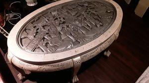 Holiday special Chinese hand carved teak wood tea table with claw feet highly carved asking 740 or best offer for Sale in Houston, TX