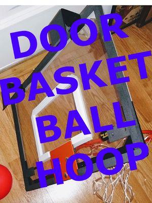 DOOR PLEXIGLASS BASKETBALL HOOP, SPRING LOADED RIM, WITH BALL for Sale in Glen Ellyn, IL
