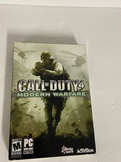 Call of Duty 4 Modern Warfare (PC 2007) With Case/Box & BooK CD + Key GOOD USED for Sale in Aloha,  OR