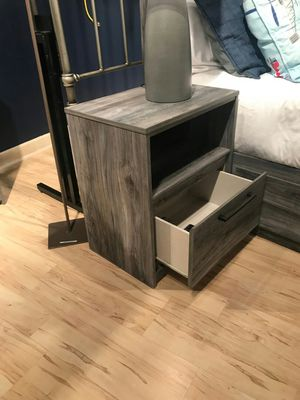 Ashley Furniture Gray Nightstand with USB Port for Sale in Garden Grove, CA