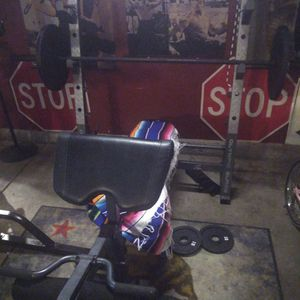 Olympic Weight Bench Squat Rack for Sale in Sacramento, CA