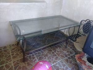 Coffee table glass and stone for Sale in Sebring, FL