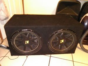 """15"""" KICKER COMP SUBWOOFERS WITH BOX for Sale in Stockton, CA"""
