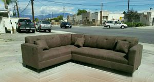 NEW 7X9FT ESSPRESO MICROFIBER SECTIONAL COUCHES for Sale in Las Vegas, NV