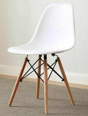 Brand new $25 each century modern leisure dining chair regular adult size chair black beige brown gray or white color for Sale in Whittier, CA