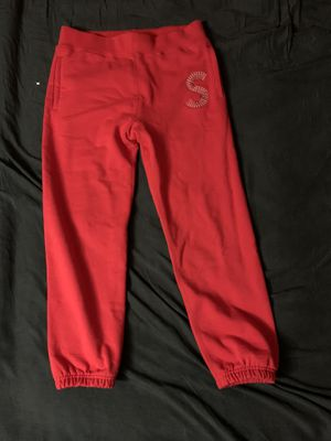 """Supreme logo Sweatpant """"red"""" small for Sale in Hollywood, FL"""