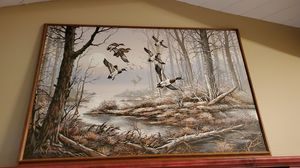 While duck picture beautiful wood frame approximately 3' by 5' for Sale in North Canton, OH