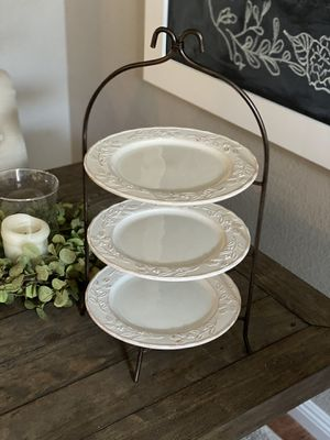 Beautiful 3-Tier Serving Tray for Sale in Turlock, CA