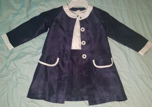 NEW SWEET HEART ROSE Girls Dress & Coat Set Outfit Party sz 4 Navy Blue White for Sale in Fullerton, CA