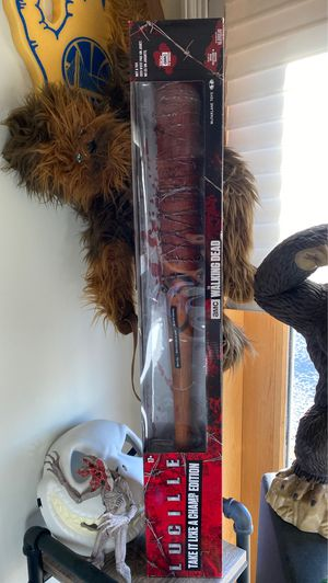 Lucille the walking dead Neagan bloody bat collectible toy Limited edition for Sale in Playa del Rey, CA