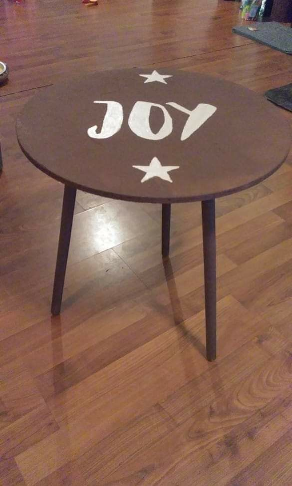 Rustic JOY end table wooden