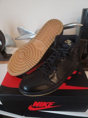 Jordan 1 Retro Hi OG Black and Gum size 10.5 100% Authentic for Sale in DEVORE HGHTS, CA