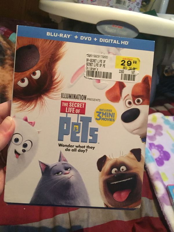 The secret life of pets bluray( new)