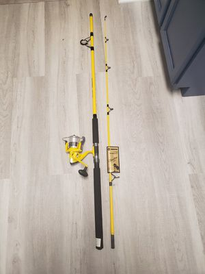 Master Fishing Tackle Mounted Line Spinning Rod Combo for SP60/3211-Y 9' S/W/S BB (2 Piece), Yellow for Sale in Palatine, IL
