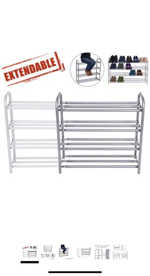 4-Tier Shoe Organizer Rack, Expandable for Sale in Shelbyville, KY