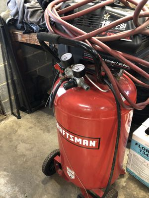 Barely use air compressor 33 gallons Craftsman with air hose for Sale in La Plata, MD