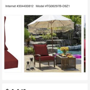 Home Depot Patio Cushions Like New for Sale in Pleasanton, CA