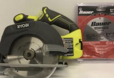 "Ryobi 18V One+ 6 1/2"" Circular Saw P507 w/extra new blade Hyper Tough Bag for Sale in Lutz,  FL"