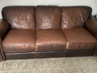 Leather Sofa bed, Armchair And Ottoman for Sale in Lumberton,  NJ