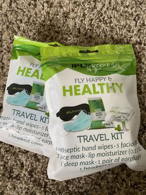 IFly Happy&Healthy Travel Kit-Face mask, hand wipe, lip moisturizer, etc for Sale in Tucson, AZ