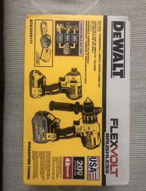 DeWalt 20-Volt MAX Lithium-Ion Cordless Brushless Combo Kit (2-Tool) with FLEXVOLT and 20-Volt Battery and Charger for Sale in Silver Spring, MD