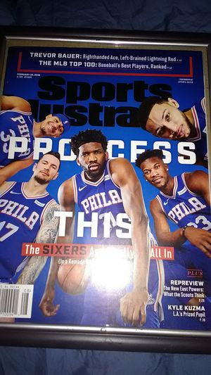 PHILADELPHIA 76ERS SPORTS ILLUSTRATED FRONT COVER NBA 2019 for Sale in Fairless Hills, PA