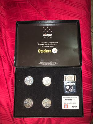 Steelers Zippo Minted coin collector set for Sale in Chuluota, FL