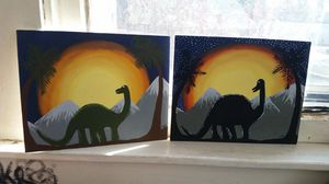 Dinosaur acrylic painting for Sale in Canton, IL