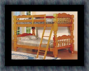 Wooden bunkbed frame with 2 mattress for Sale in Fairfax, VA