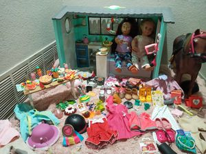 Our Generation doll OG doll house beach cottage lights up and makes sounds for Sale in Denver, CO