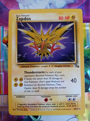 Pokemon Vintage Zapdos Fossil Rare 30/62 Mint Condition PSA Quality for Sale in Pomona, CA