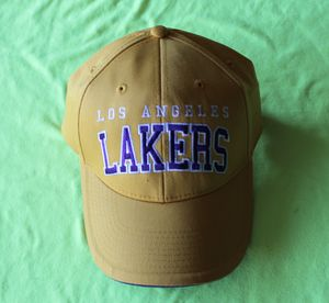 Los Angeles Lakers NBA Team Headwear Yellow Purple Adjustable Hat Dad Hat for Sale in Cupertino, CA