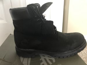 Timberland black boots for 80$ in good condition for Sale in Hanover Park, IL