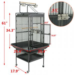 61 Large Bird Cage Top Play Non-Toxic Power Coated Steel Best Pet House EZ USE for Sale in Wildomar, CA