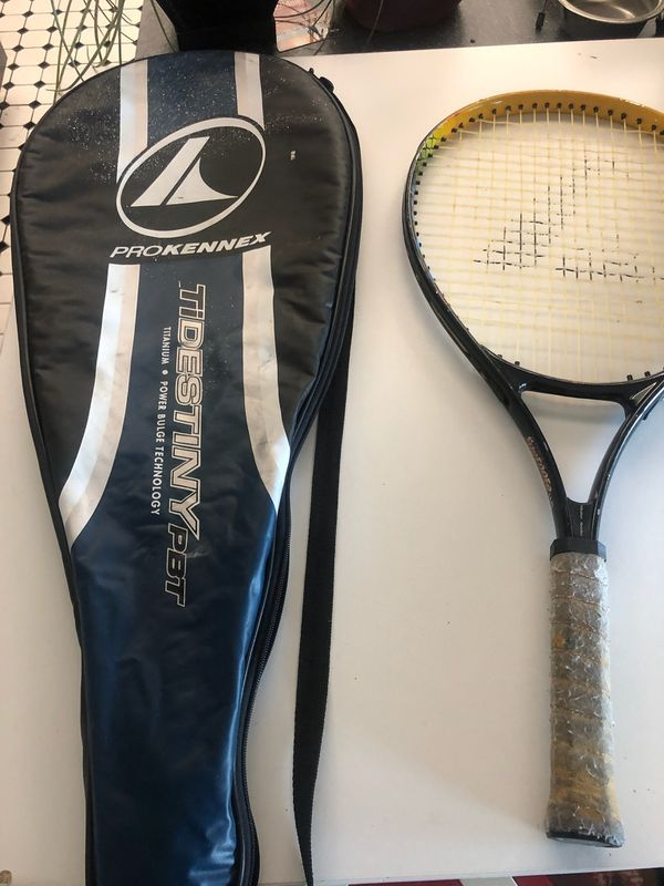 Tennis racket with case