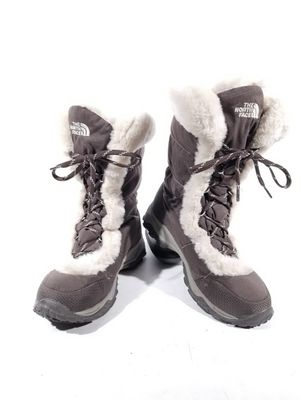 The North Face Womens Boots Brown Gooose Down Lace Up Winter Snow Boots Sz 8.5 for Sale in Commerce City, CO