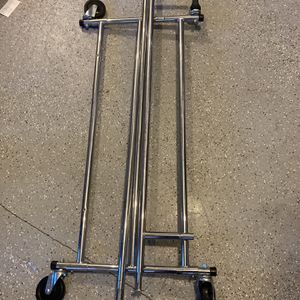 Sturdy Metal Garment Rack On Wheels for Sale in Canby, OR
