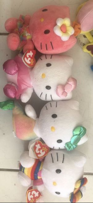 4 new hello kitty plushes for Sale in Miami, FL