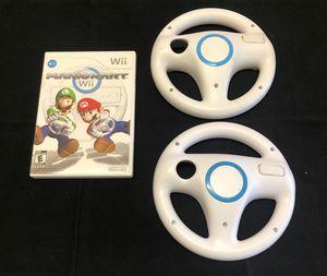 Mario Kart Wii + 2 Steering Wheels for Sale in Portland, OR