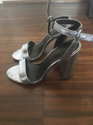 Silver High Heel Sandals, Size 10 for Sale in Washington, DC