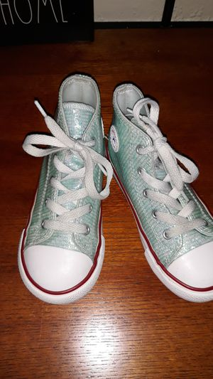 Girls Converse Aqua. Size 10 for Sale in Houston, TX