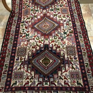 Handmade Carpet From Iran 6ft By 4ft Wool And Silk Material for Sale in Antioch, CA