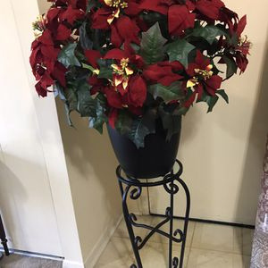 "Available Large Artificial Floral Pot Looks Like Real Flower 36"" And 28"" Heavy Metal Stand Pick Up Gaithersburg Md20877 for Sale in Gaithersburg, MD"