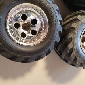 Set of tires and wheels for rc car for Sale in East Wenatchee, WA