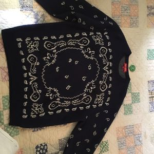 Supreme Bandana Sweater Navy for Sale in Clearwater, FL