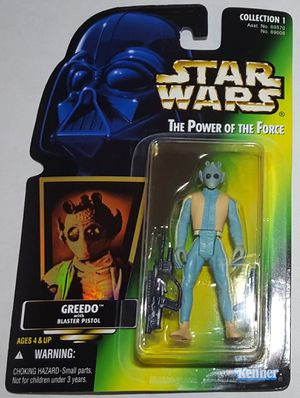 STAR WARS 1996 THE POWER OF THE FORCE GREEDO WITH BLASTER PISTOL ACTION FIGURE! for Sale in Lakewood, WA
