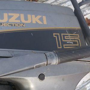 Suzuki 15 Horsepower Oil Injected Outboard Motor Runs!!e for Sale in Chesapeake, VA