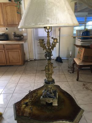 Antique wooden and carved lamp for Sale in North Miami Beach, FL